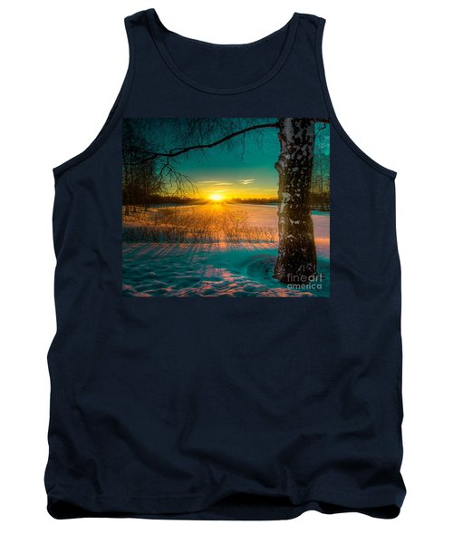 Winter Delight In British Columbia Tank Top by Rod Jellison