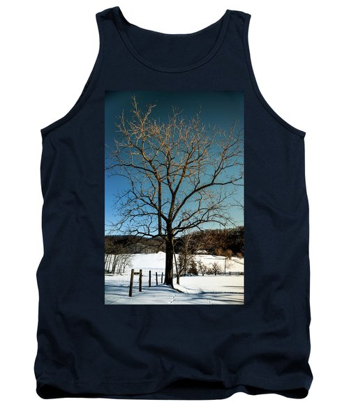 Tank Top featuring the photograph Winter Glow by Karen Wiles