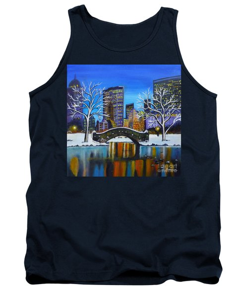 Winter In New York- Night Landscape Tank Top