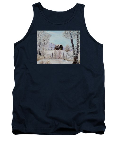 Tank Top featuring the painting Winter Solace by Marilyn  McNish