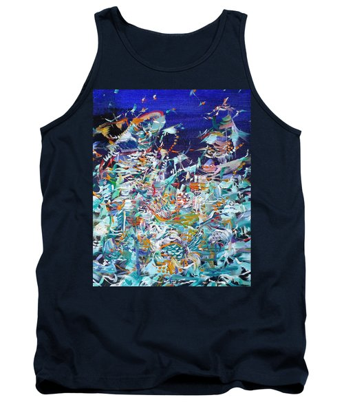 Tank Top featuring the painting Wishes by Fabrizio Cassetta