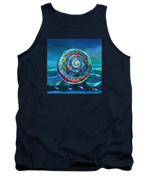 Tank Top featuring the painting Withstanding Orby Weather by Robin Moline