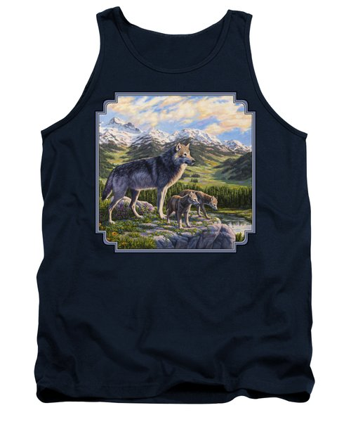 Wolf Painting - Passing It On Tank Top