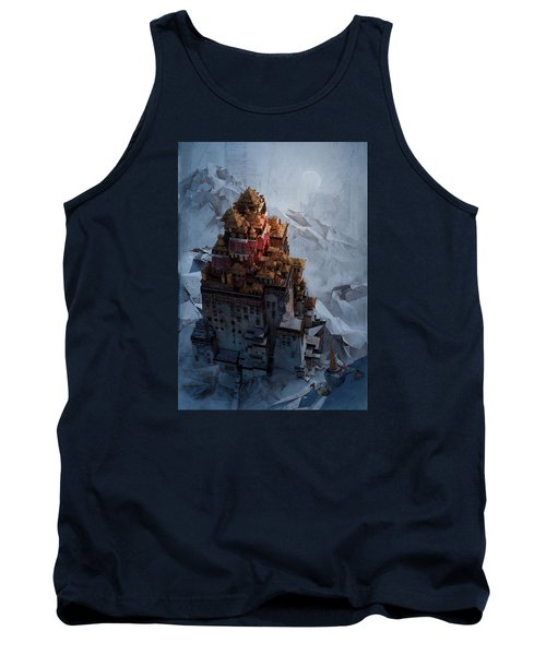 Tank Top featuring the digital art Wonders Holy Temple by Te Hu