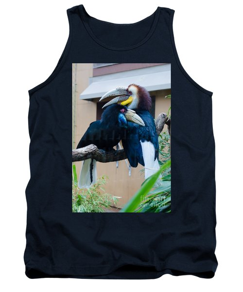 Wreathed Hornbills Tank Top by Donna Brown