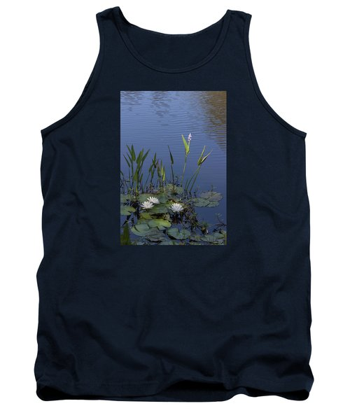Tank Top featuring the photograph Yawkey Wildlife Reguge Water Lilies With Rare Plant by Suzanne Gaff