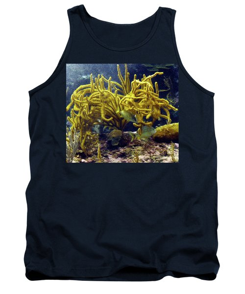 Tank Top featuring the photograph Yellow Coral Dance by Francesca Mackenney