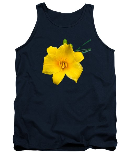 Yellow Daylily Flower Tank Top by Christina Rollo