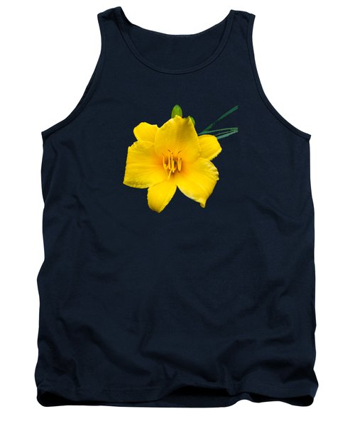 Yellow Daylily Flower Tank Top