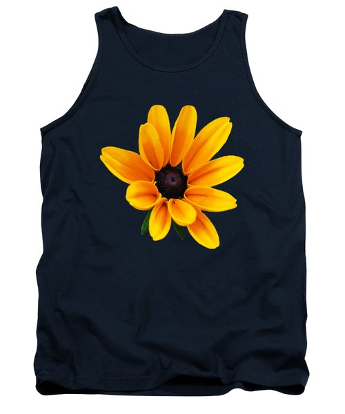 Yellow Flower Black-eyed Susan Tank Top by Christina Rollo