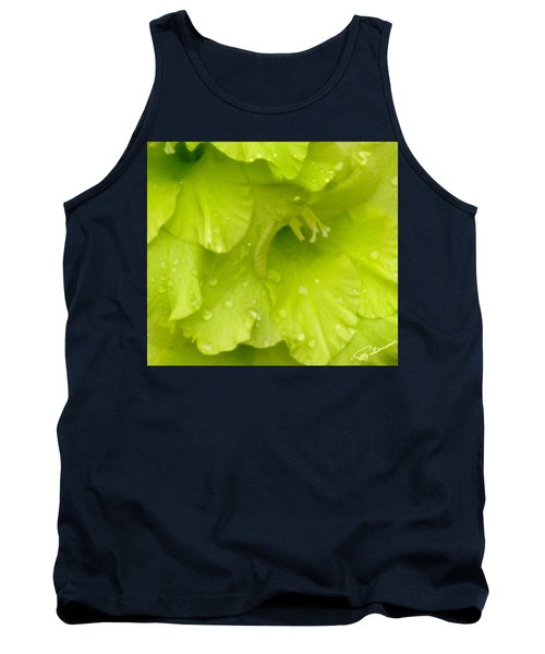 Yellow Gladiola Refreshed Tank Top