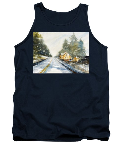 Yellow House On The Right Tank Top by Judith Levins