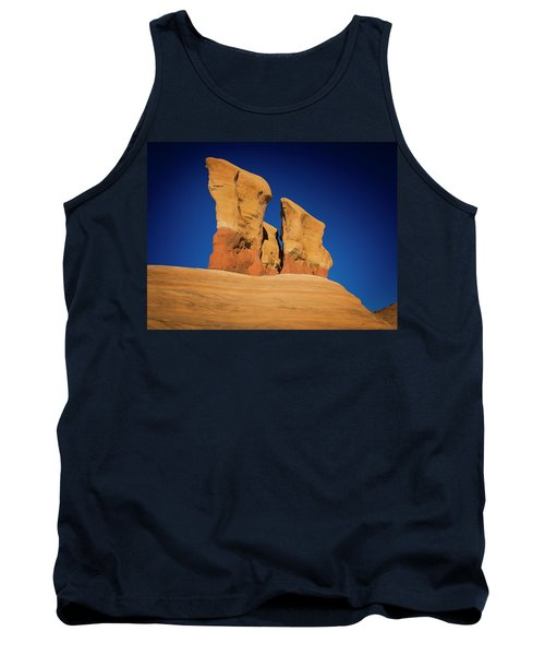 Tank Top featuring the photograph Yellow Pillars by Edgars Erglis