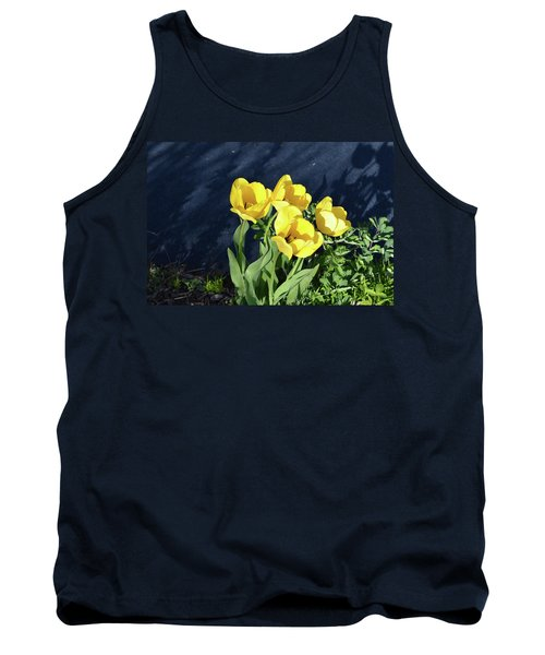 Yellow Tulips Tank Top by Kathleen Stephens