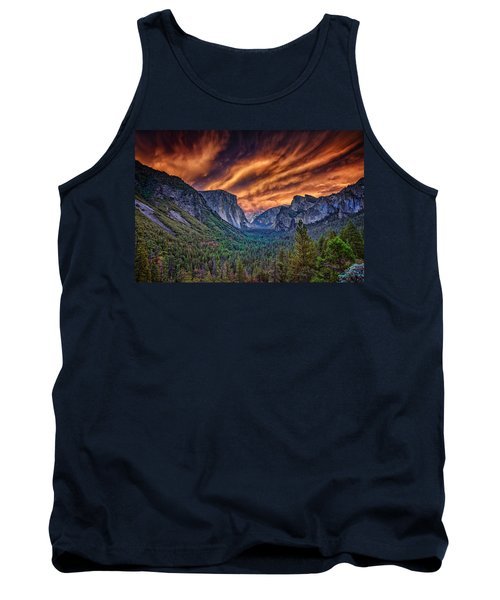 Yosemite Fire Tank Top by Rick Berk
