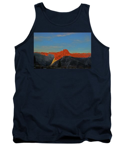 Tank Top featuring the photograph Yosemite Summer Sunset Abstracted 1 by Walter Fahmy