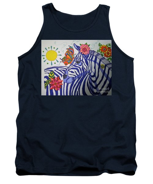 Zebra And Things Tank Top