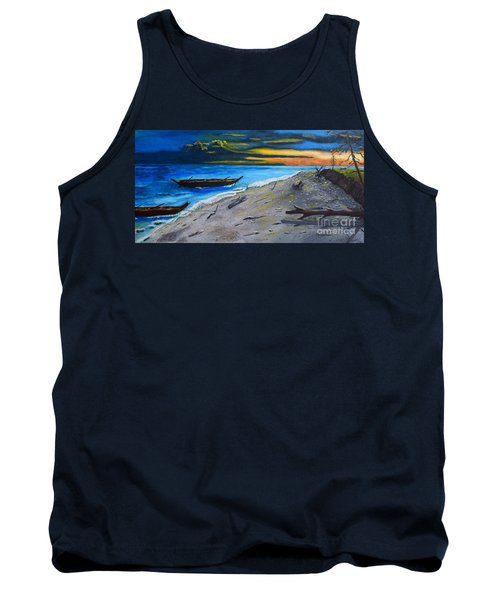 Zombie Island Tank Top by Melvin Turner