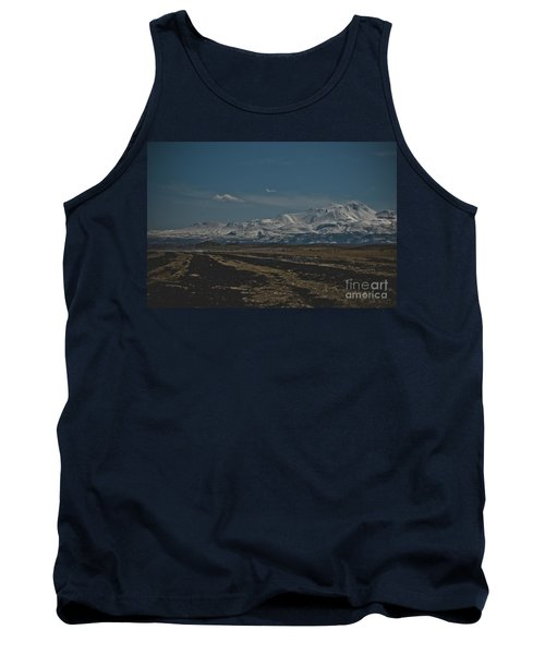 Snow-covered Mountains In The Turkish Region Of Capaddocia. Tank Top