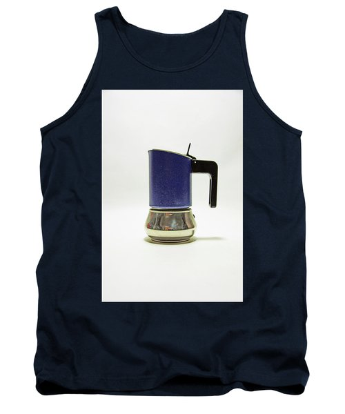 10-05-19 Studio. Blue Cafetiere Tank Top
