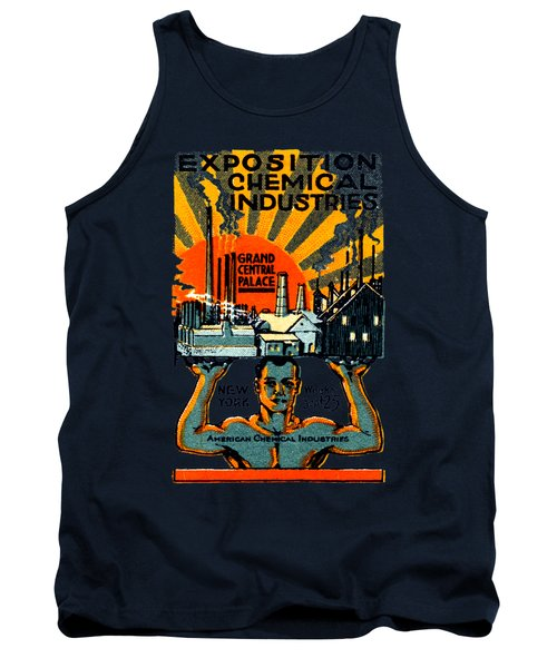 1917 Nyc Chemical Expo Poster Tank Top