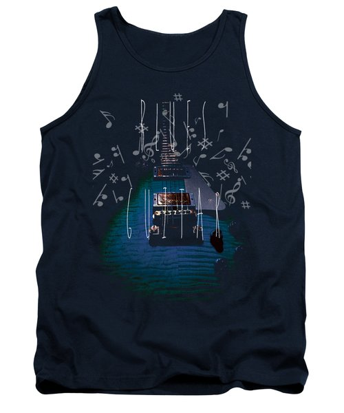 Blues Guitar Music Notes Tank Top