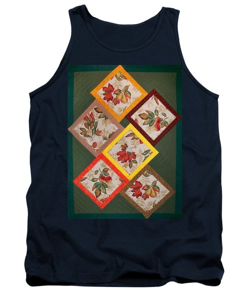 Autumn Fruit And Leaves Tank Top