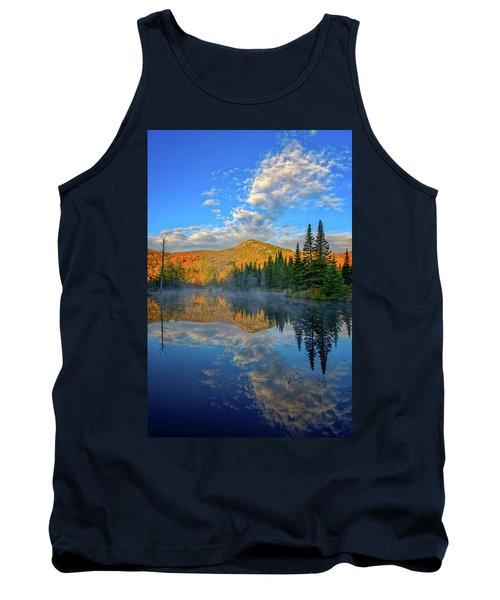 Autumn Sky, Mountain Pond Tank Top