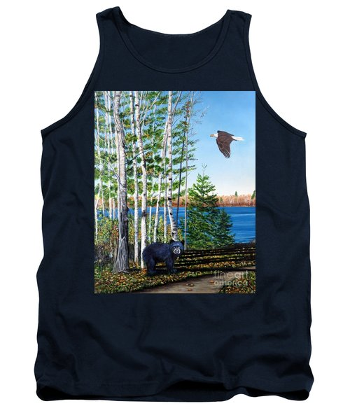 Little Bear And Eagle Wing Tank Top