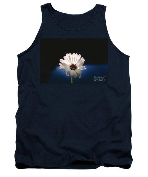 Beautiful And Delicate White Female Flower Dark Background Illum Tank Top