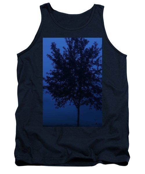 Blue Cherry Tree Tank Top
