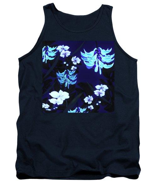 Blue Jungle Floral Tank Top