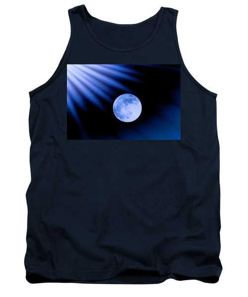 Blue Rays On The Moon Tank Top