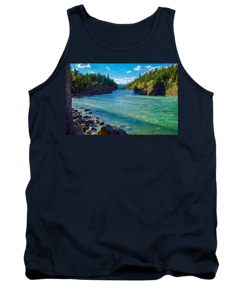 Bow River In Banff Tank Top