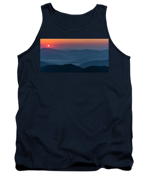 Tank Top featuring the photograph Brasstop Bald Sunrise Panorama by Andy Crawford