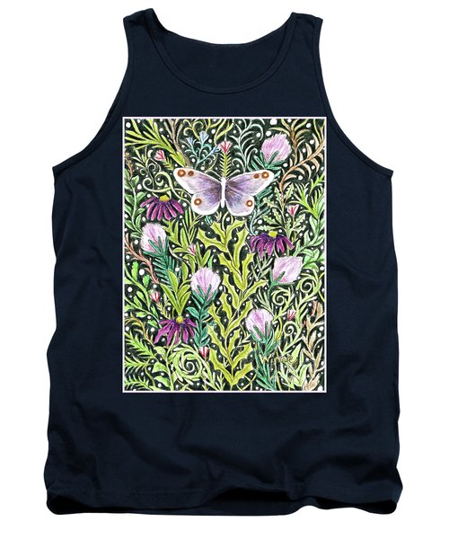 Butterfly Tapestry Design Tank Top