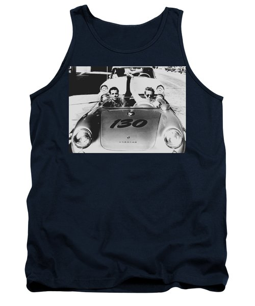 Classic James Dean Porsche Photo Tank Top