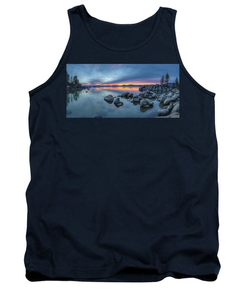 Colorful Sunset At Sand Harbor Panorama Tank Top