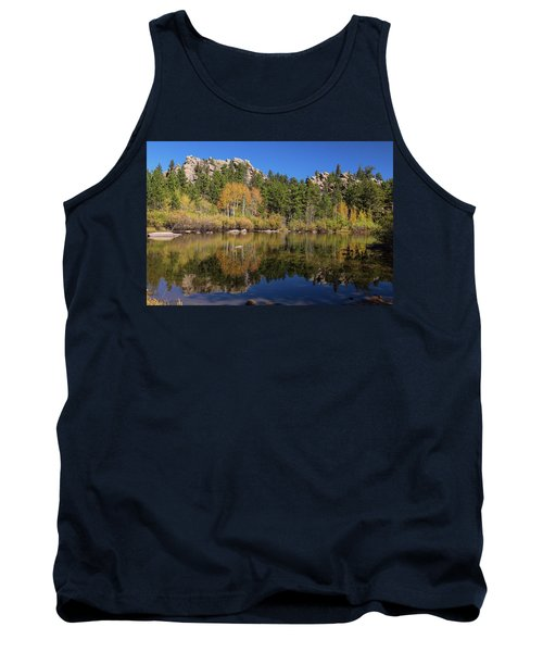 Tank Top featuring the photograph Cool Calm Rocky Mountains Autumn Reflections by James BO Insogna