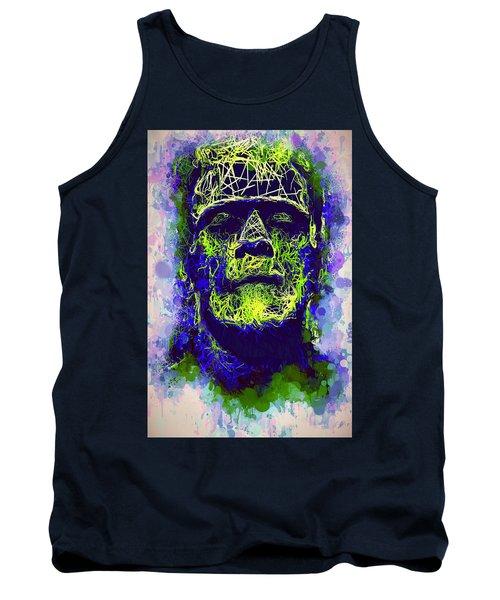 Frankenstein Watercolor Tank Top