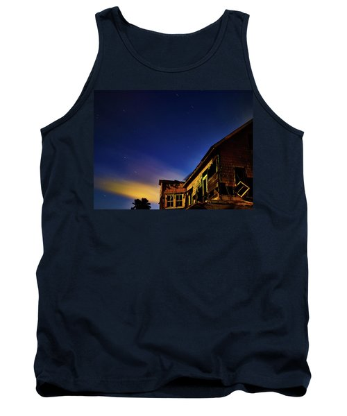 Decaying House In The Moonlight Tank Top