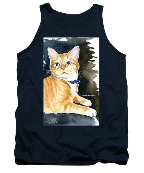 Diego Ginger Tabby Cat Painting Tank Top