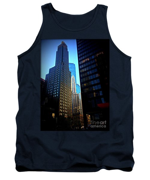Golden Hour Reflections - City Of Chicago Tank Top