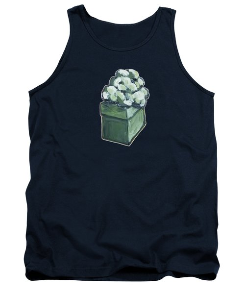 Tank Top featuring the painting Green Present by Maria Langgle
