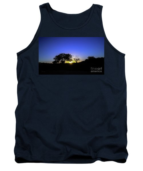 Last Light Texas Hill Country Paradise Canyon Sunset 8053a Tank Top