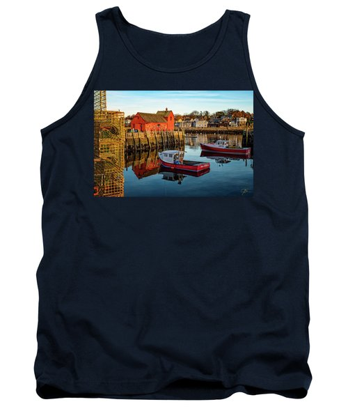 Lobster Traps, Lobster Boats, And Motif #1 Tank Top