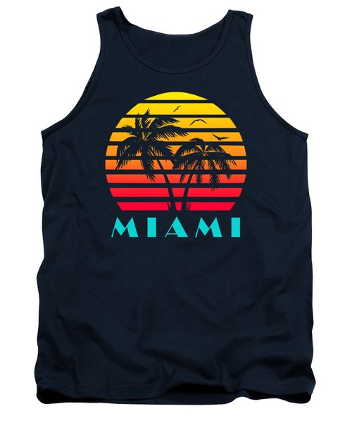 Miami 80s Tropical Sunset Tank Top