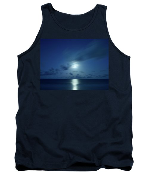 Moonrise Over The Sea Tank Top