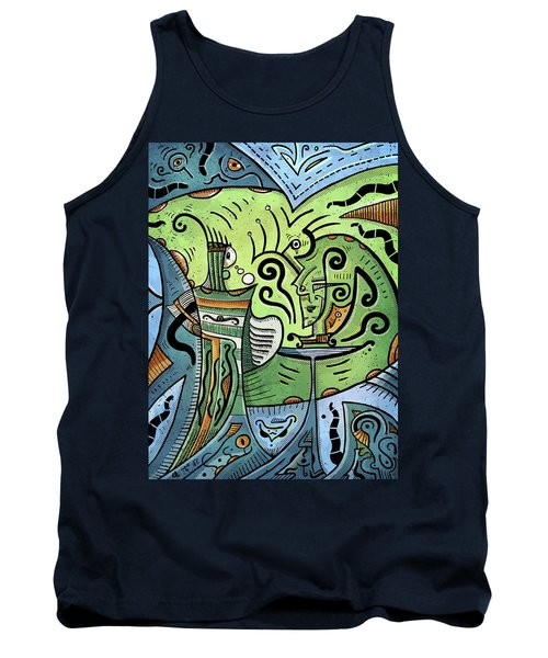 Tank Top featuring the painting Mystical Powers by Sotuland Art
