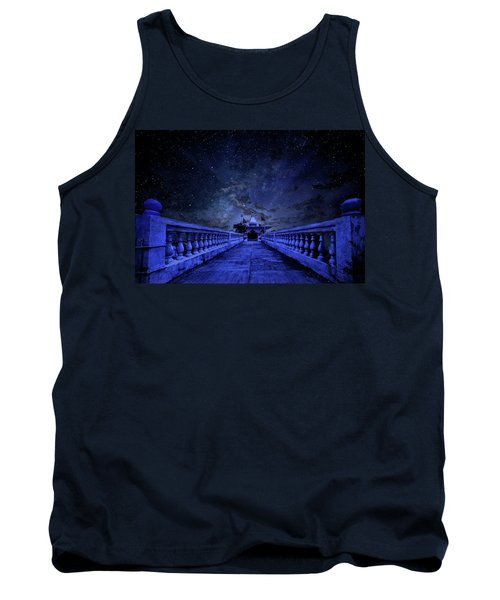 Night Sky Over The Temple Tank Top